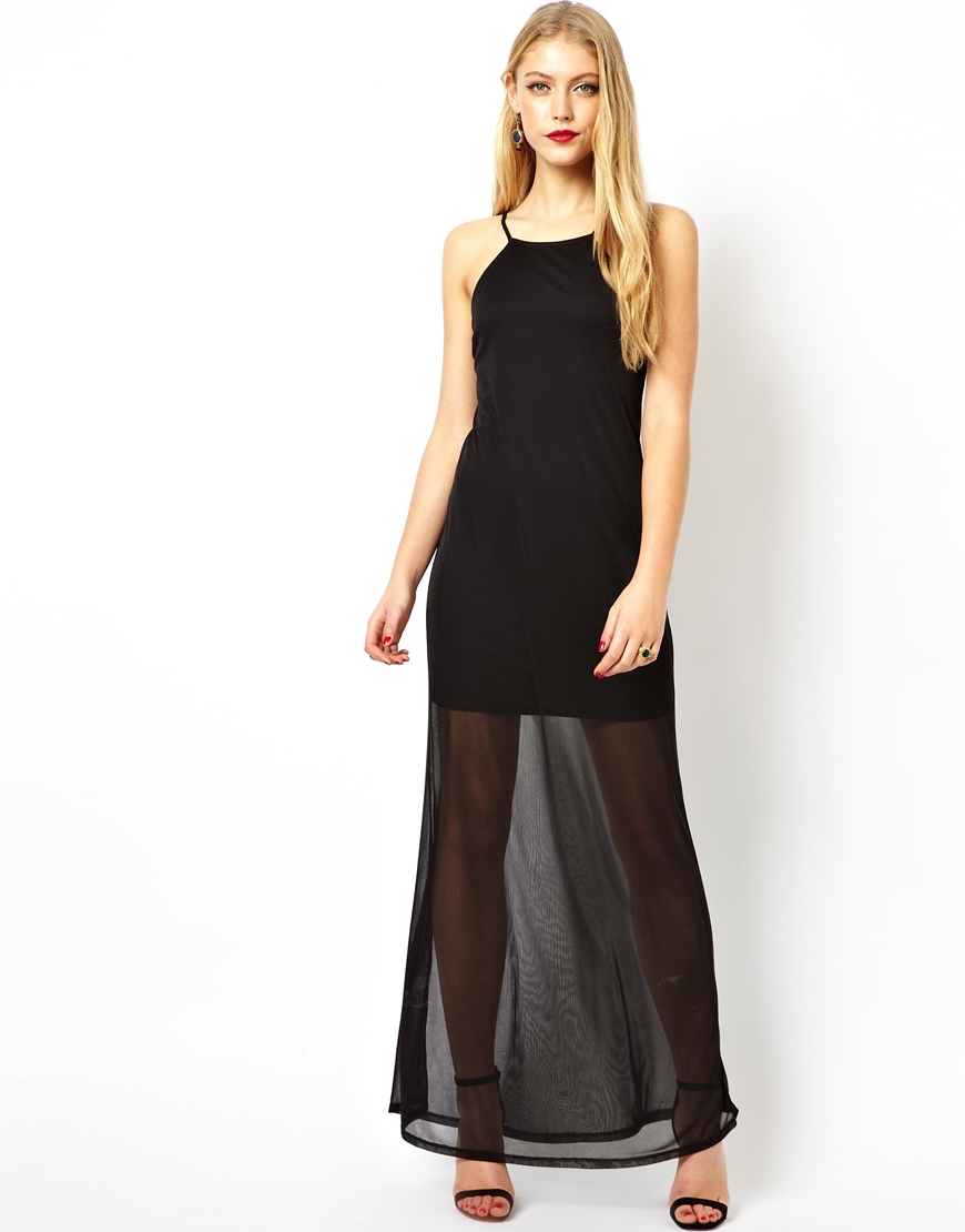Images of Sheer Maxi Dress - Klarosa