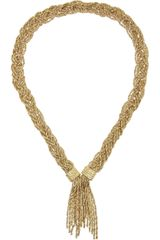 Aurelie Bidermann Miki Goldplated Rope Necklace - Lyst