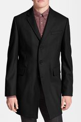 Ben Sherman Melton Wool Blend Crombie Coat - Lyst