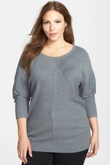 Caslon® Rib Knit Sweater - Lyst