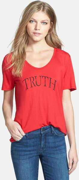 Cj By Cookie Johnson Truth Charity Tee Screenprint Tee - Lyst