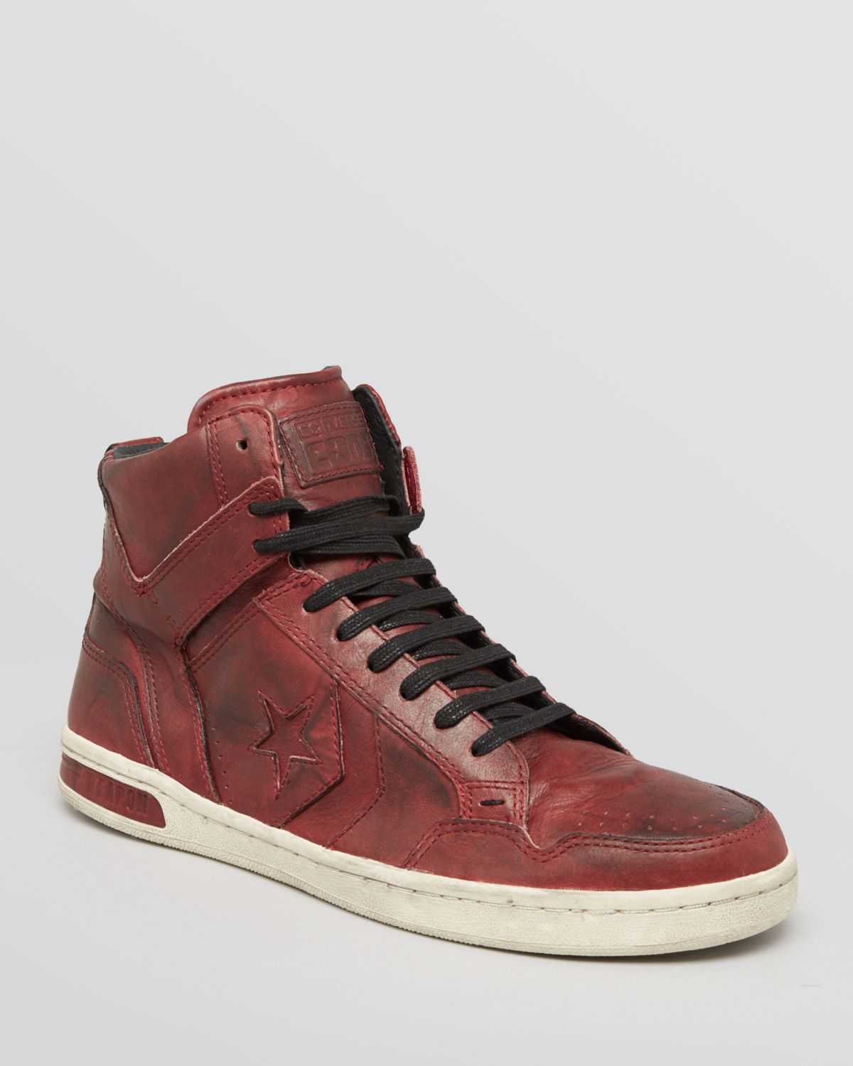 Converse Jv Weapon Leather High Top Sneakers In
