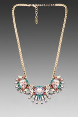 Elizabeth Cole Elliptical Necklace in Metallic Gold - Lyst