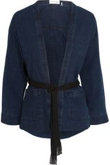 Etoile Isabel Marant Tholen Belted Cotton Chambray Jacket - Lyst