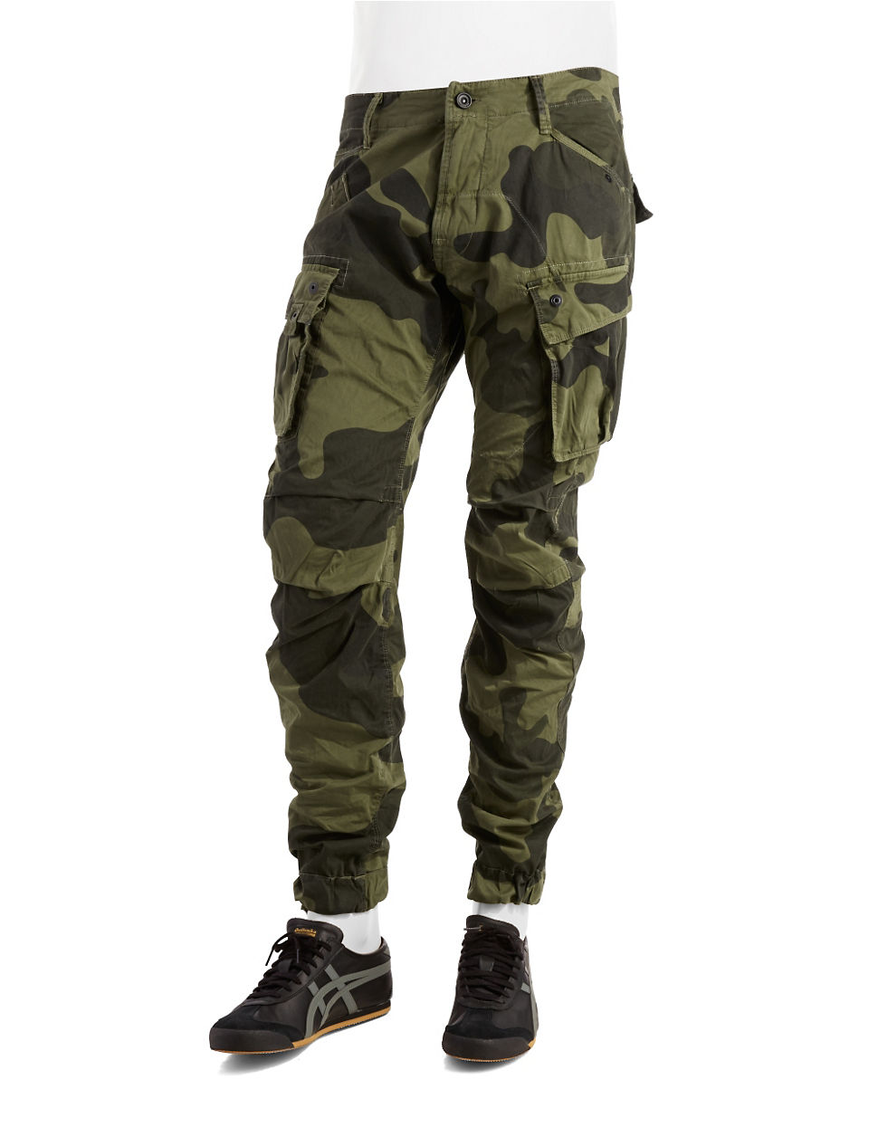 g star raw camouflage cargo pants in green for men lyst. Black Bedroom Furniture Sets. Home Design Ideas