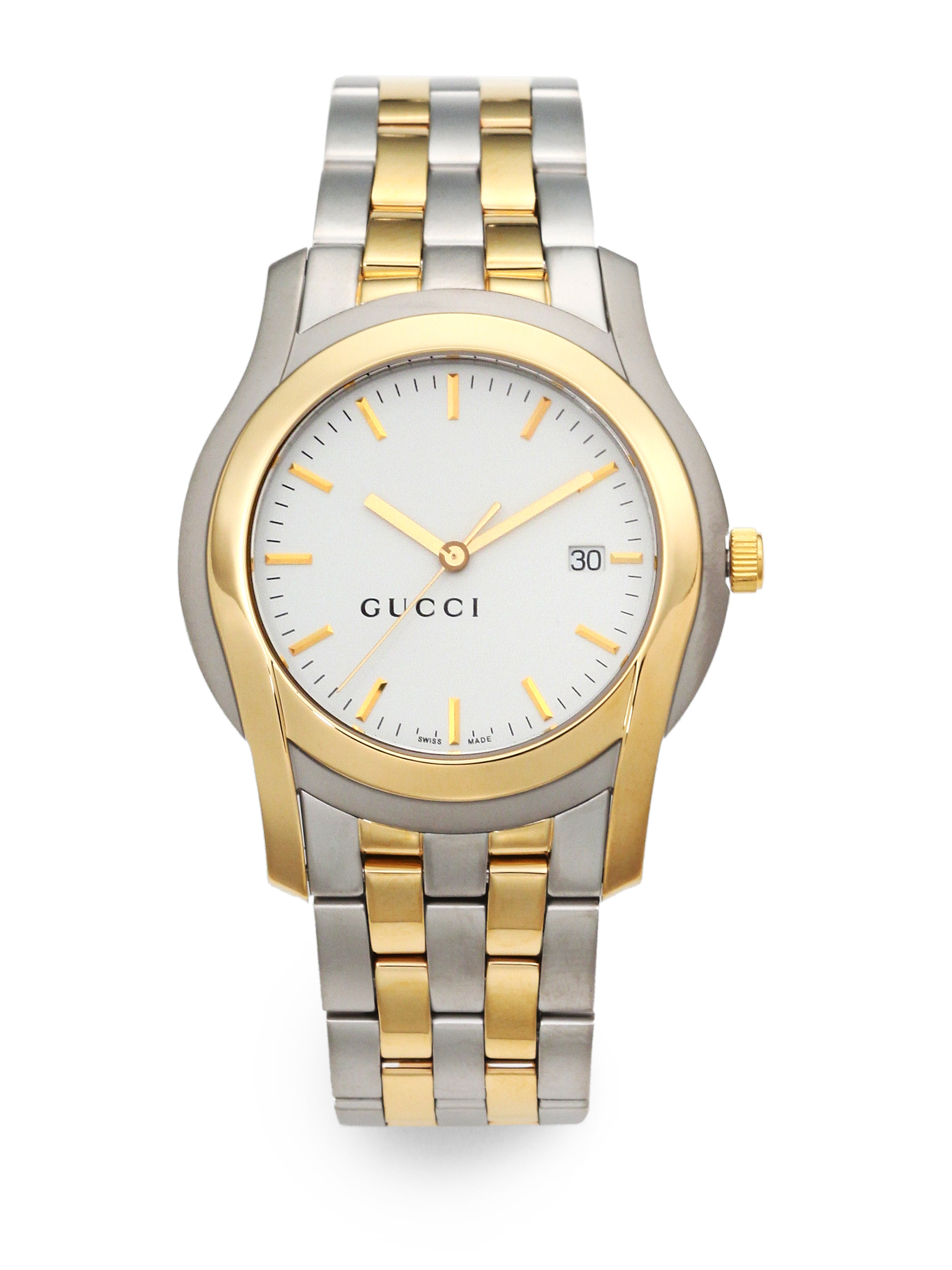 Lyst Gucci Gclass Goldplated Stainless Steel Watch In