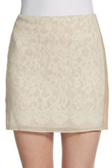 Haute Hippie Lace and Silk Mini Skirt - Lyst