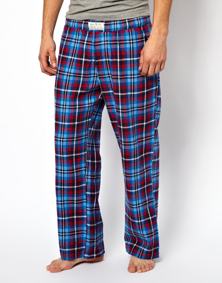men/man new items reliable quality Jack Wills Ingleton Check Lounge Bottoms Brushed Flannel in ...