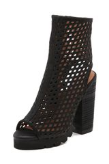 Jeffrey Campbell Chella Perforated Booties - Lyst