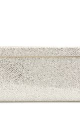 Jimmy Choo Cayla Glittered-Canvas Clutch - Lyst
