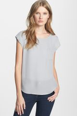Joie Rancher Silk Pocket Top - Lyst