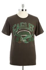 Junk Food Short Sleeved Eagles Tshirt - Lyst