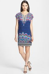 Laundry By Shelli Segal Print Shift Jersey Dress - Lyst