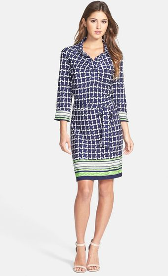 Laundry By Shelli Segal Print Jersey Shirtdress - Lyst
