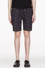 Marc By Marc Jacobs Grey Leopard Lounge Shorts - Lyst