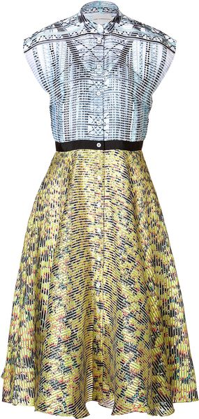 Mary Katrantzou Silk Printed Drive Dress in Multi - Lyst