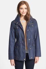 Michael by Michael Kors Contrast Stitch Waxed Cotton Anorak Jacket - Lyst