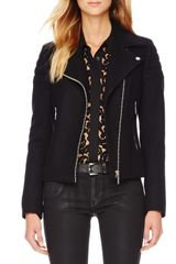 Michael by Michael Kors Woolblend Motorcycle Jacket - Lyst