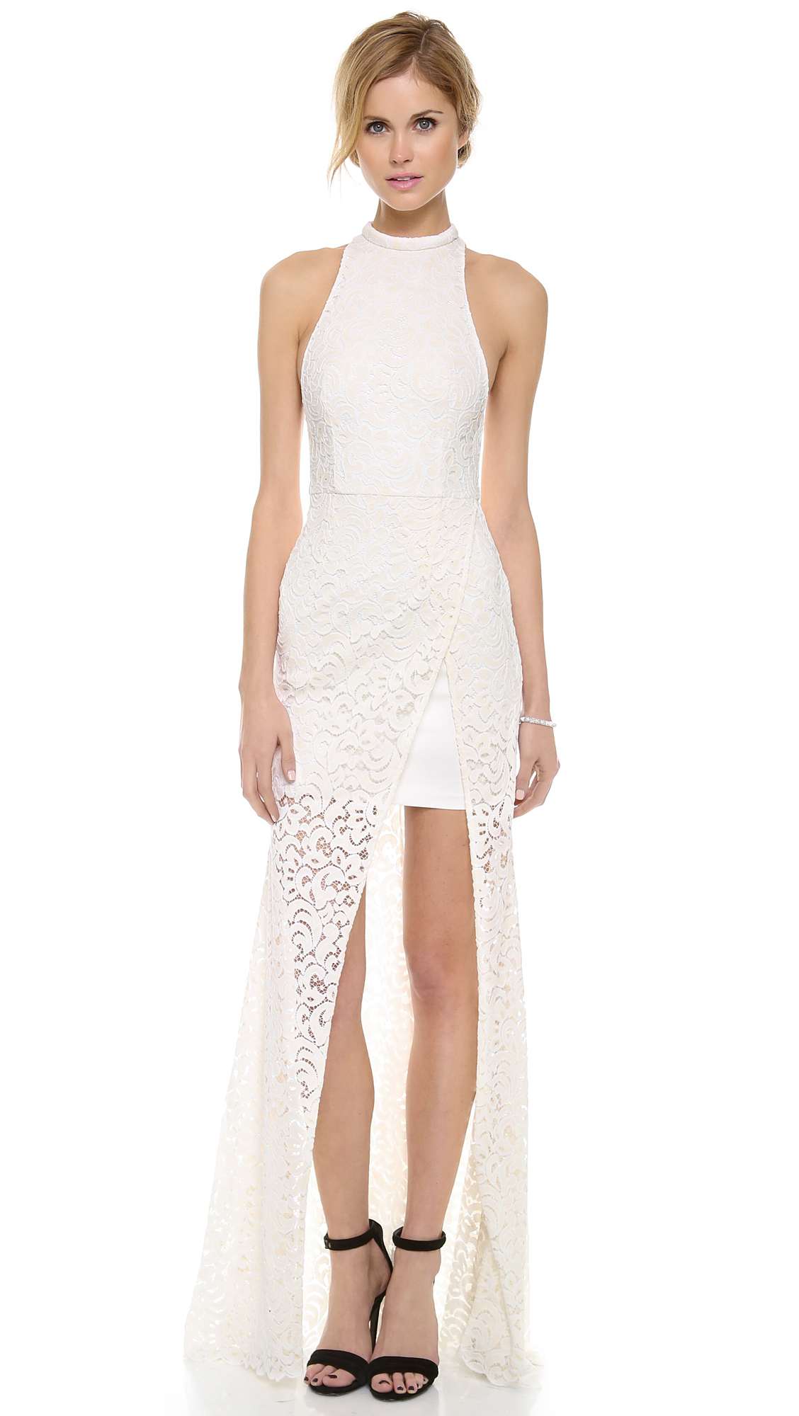 Nicholas Paisley Lace Maxi Dress In White Ivory Lyst