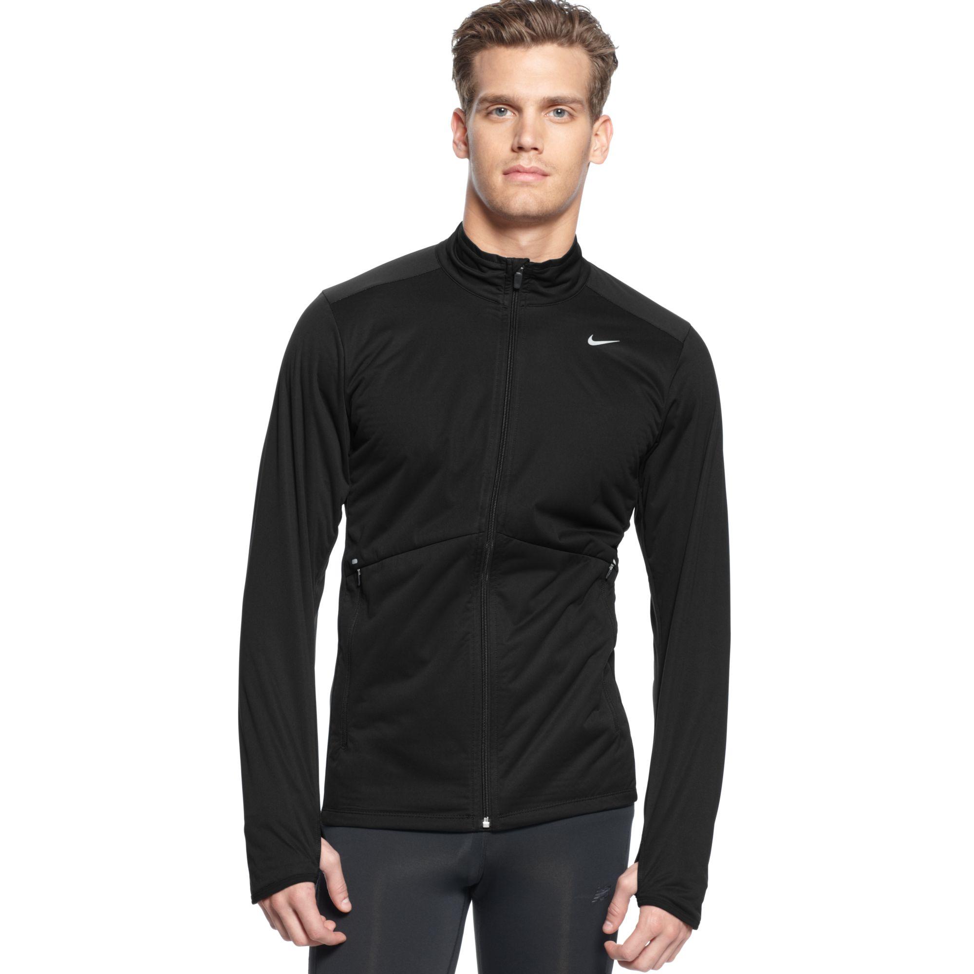 9afbd2a54ffe Lyst - Nike Element Shield Drifit Fullzip Running Jacket in Black ...