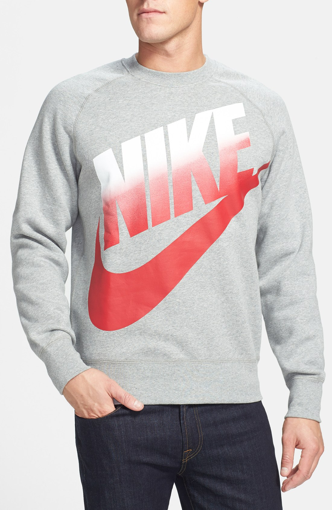 Nike Aw77 Crewneck Sweatshirt in Gray for Men | Lyst
