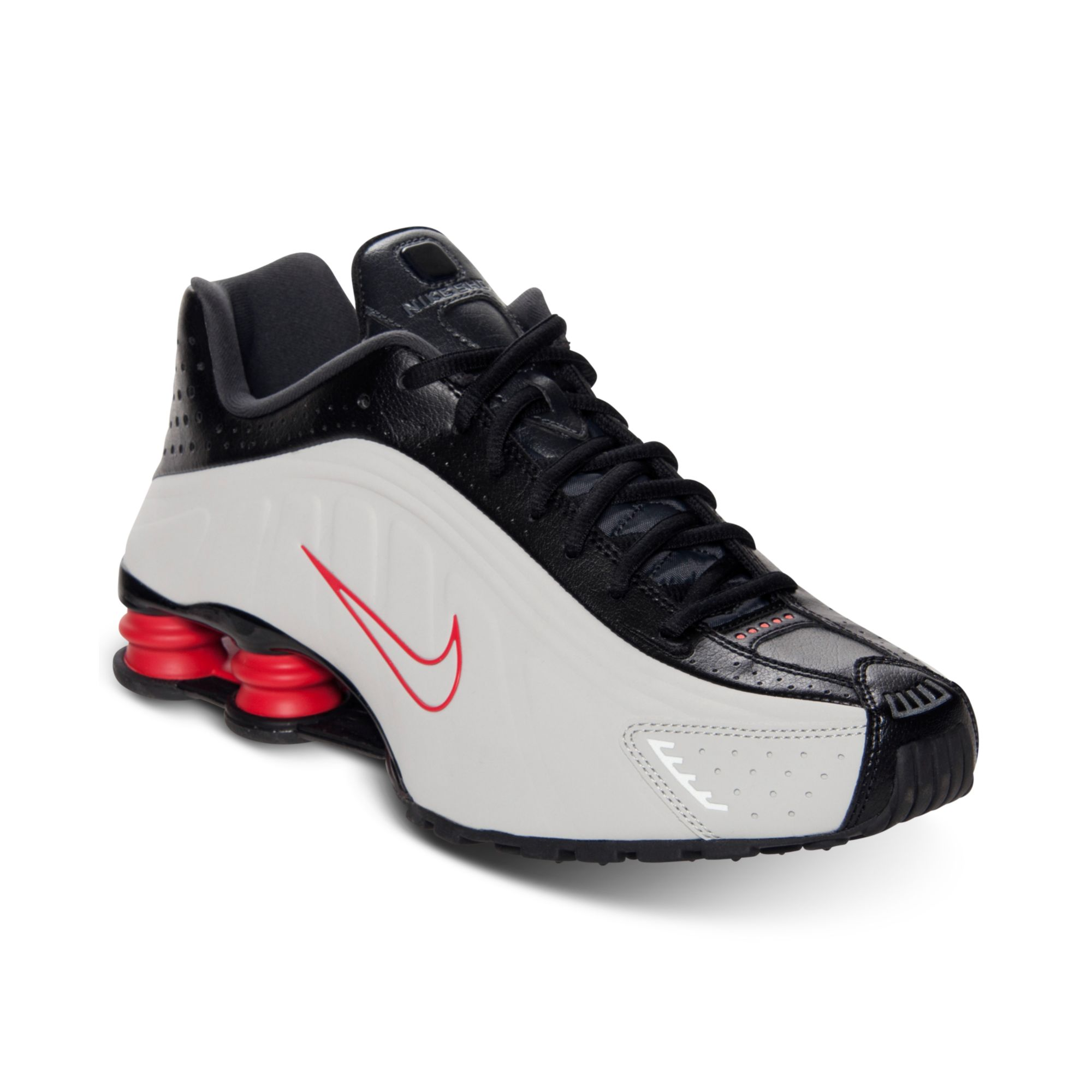 low priced 40770 99650 ... shop lyst nike mens shox r4 running shoes from finish line in black for  men 19104