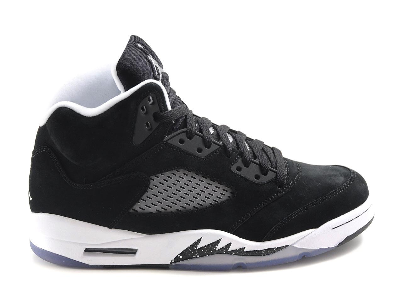 air jordan 5 black and white