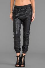 One Teaspoon Leather Trackies Pant in Black - Lyst