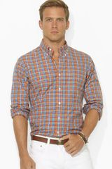 Ralph Lauren Polo Plaid Poplin 1 Pocket Sport Shirt - Lyst