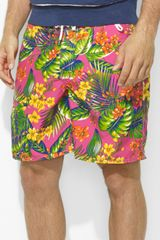 Ralph Lauren Polo Palm Island Plaid Swim Trunk - Lyst