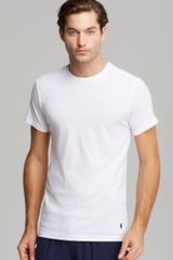 Ralph Lauren Polo Slim Fit Crewneck Tee Pack Of 3 - Lyst