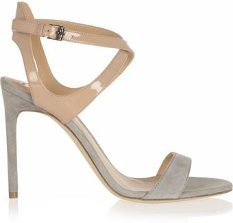 Reed Krakoff Patentleather and Suede Sandals - Lyst