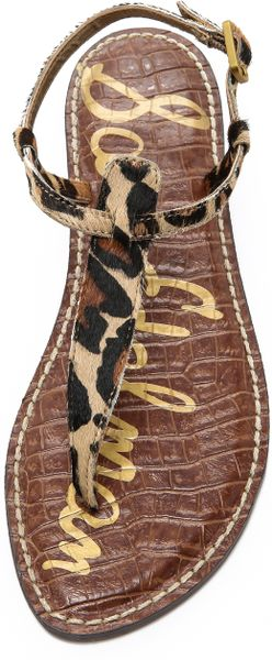 Sam Edelman Gigi Flat Sandals In Brown New Nude Leopard