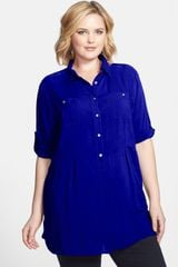 Sandra Ingrish Cotton Tunic - Lyst