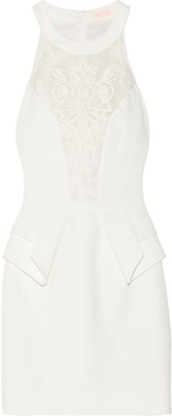 Sass & Bide Extra Time Embroidered Crepe Mini Dress - Lyst