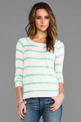 Splendid Cashmere Blend Sweater in Green - Lyst