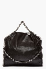 Stella McCartney Black Chain_trimmed Fover Falab Shagder Bag - Lyst