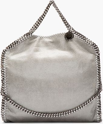 Stella McCartney Light Grey Fover Falab Shagder Bag - Lyst