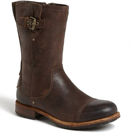 Ugg Kern Zip Boot in Brown for Men (Grizzly) - Lyst