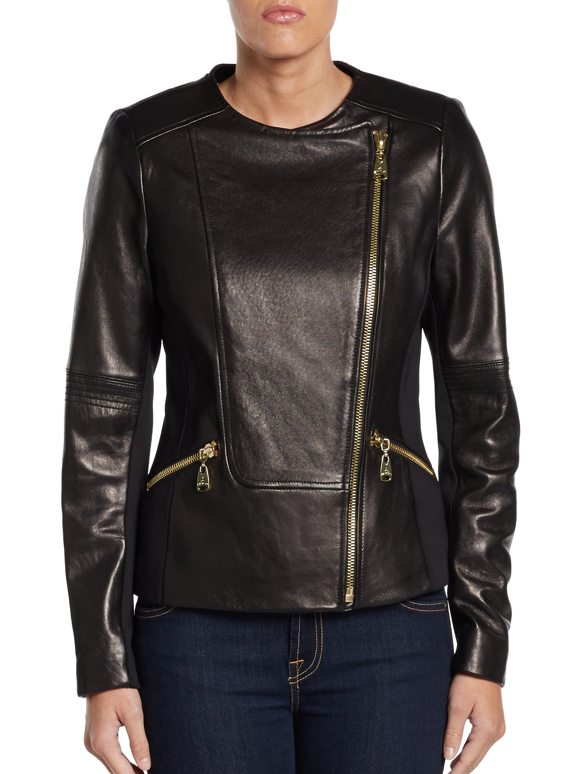 Via spiga leather jacket