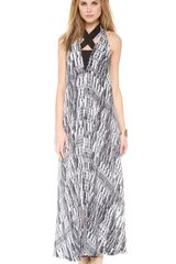 Willow Print Plunge Back Maxi Dress - Lyst