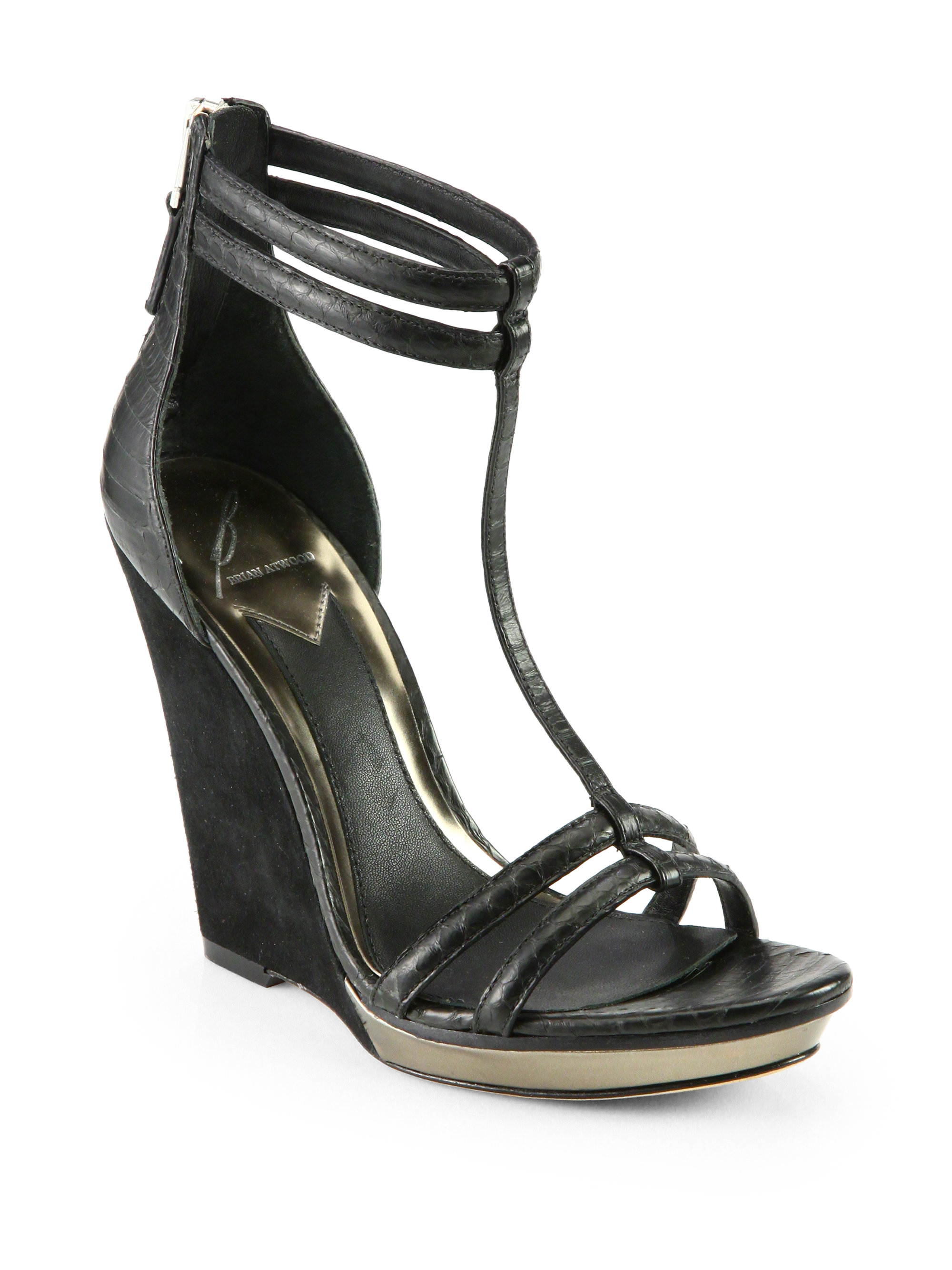 BRIAN ATWOOD Patent Leather Sandals