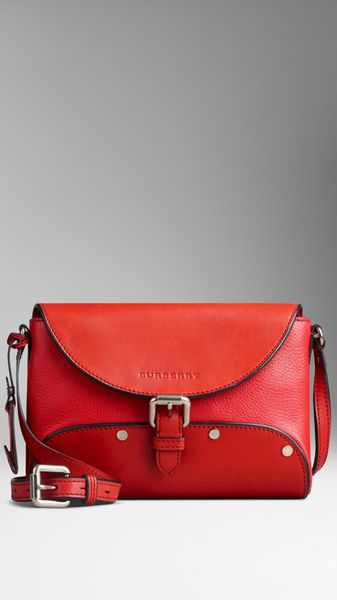 Burberry Flat Stud Detail Crossbody Bag - Lyst