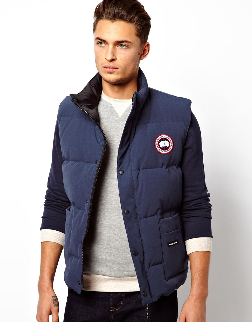 Canada Goose Freestyle Gilet In Blue For Men Lyst