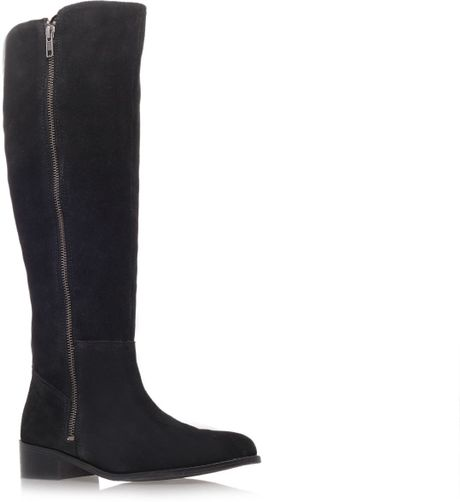 carvela kurt geiger low heeled knee length boots in