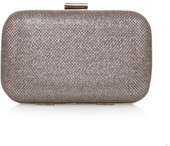 Carvela Darcy Gold Box Clutch Bag - Lyst