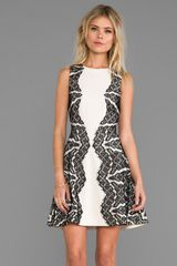 Diane Von Furstenberg Runway Gail Dress in Ivory - Lyst