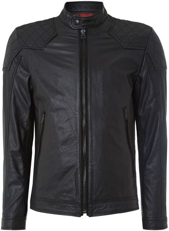 Diesel Leather Biker Jacket - Lyst