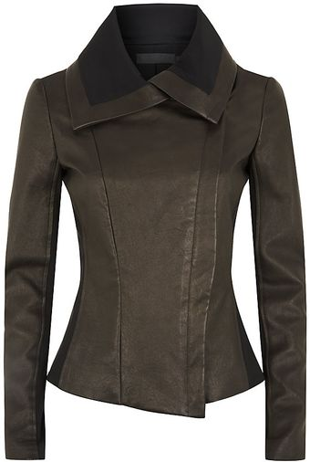 Donna Karan New York Tailored Leather Jacket - Lyst