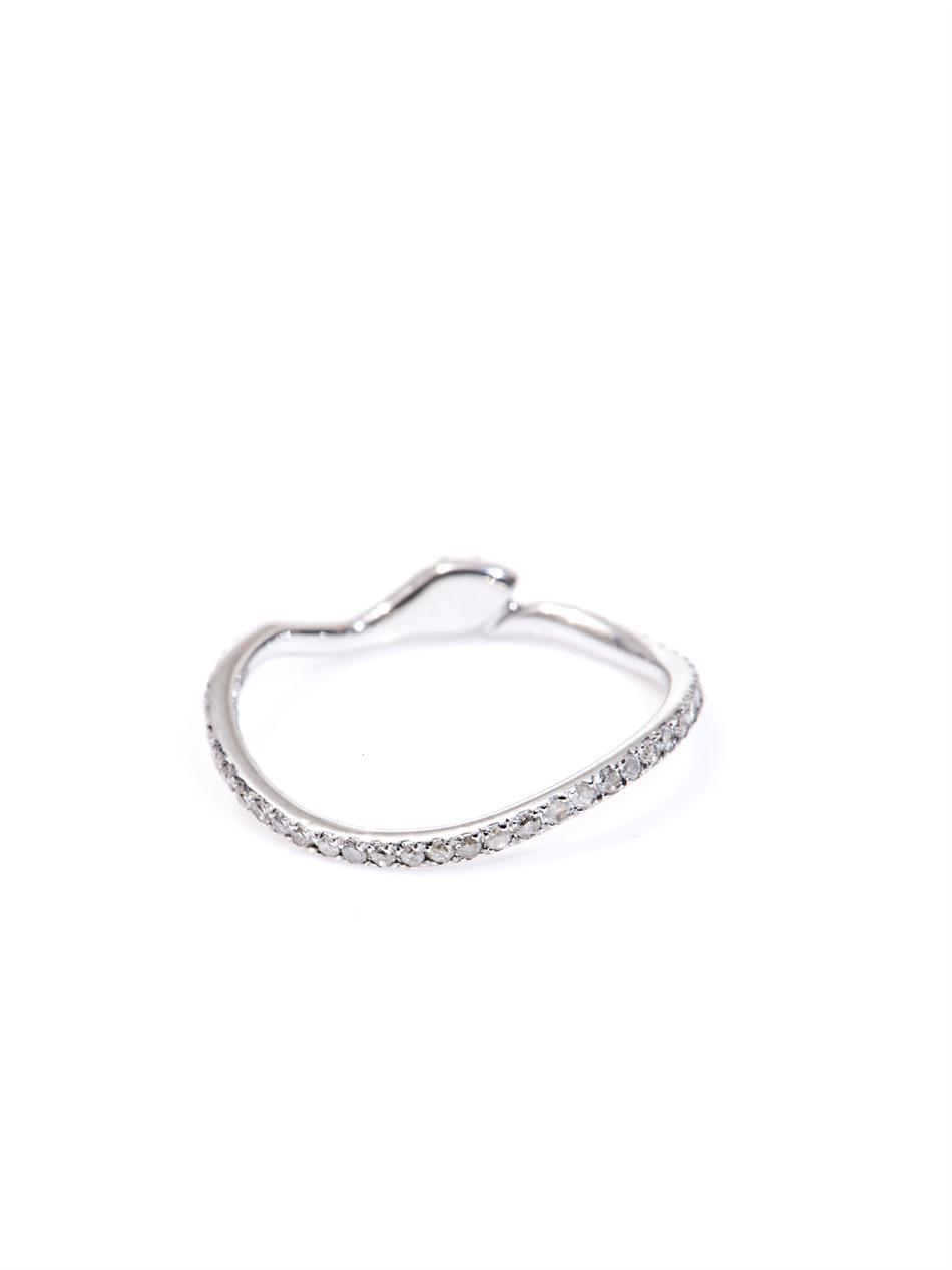 elise dray white gold snake thumb ring in white lyst